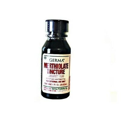 MERTHIOLATE TINCTURE 1 oz First Aid Antiseptic Skin Infection, Scrape & Cuts