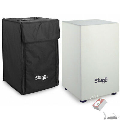 Stagg CAJ-40M-WH White Cajon with Bag Instrument Percussion