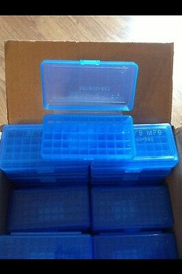 BERRY'S PLASTIC AMMO BOX 50 Round 30 32 S&W 38 357 (BUY 4 GET 1 FREE) 403 1 BLUE
