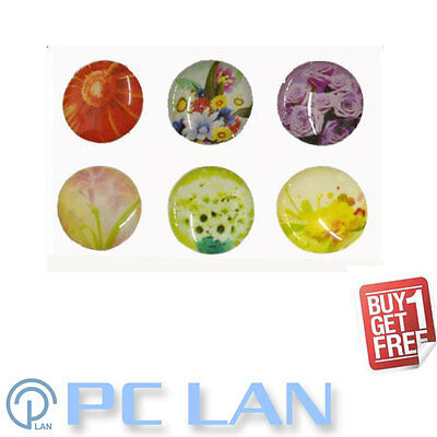 (BUY 1 Get 1 FREE) 6 PCS Flower Floral Pattern Home Button Sticker iPhone 4 4S 5