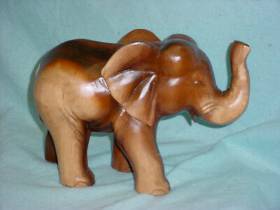 Wooden  Carved Elephant Wood Statue Wood Carving
