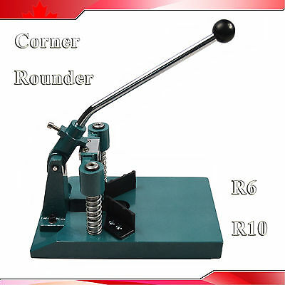 """All Steel R6(1/4"""") R10(3/8"""") Corner Rounder Punch Cutter Stack Paper Alumium"""