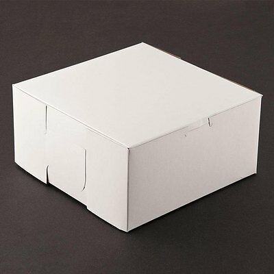 50 count WHITE 8x8x4 Bakery or Cake Box