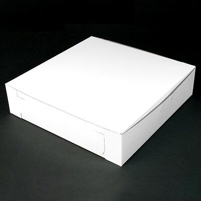 50 count WHITE 10x10x2-1/2 Bakery or Cake Box