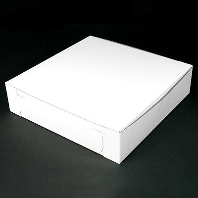 25 count WHITE 10x10x2-1/2 Bakery or Cake Box