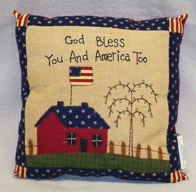 God Bless You Americana Pillow, New!