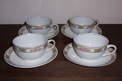 CLIFTON Pattern - Alfred Meakin China - 4 Cup & Saucer Set (more available)