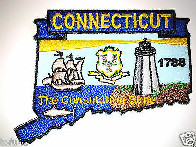 *** CONNECTICUT STATE MAP *** Biker Patch PM6707 EE