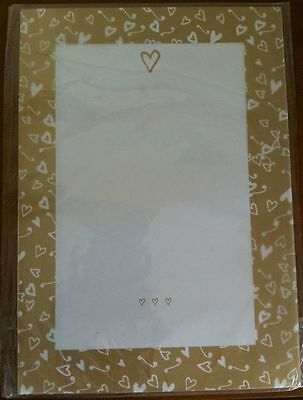 Wedding Invitations Transparent Paper - Gold Heart - 25 Sheets for Invites