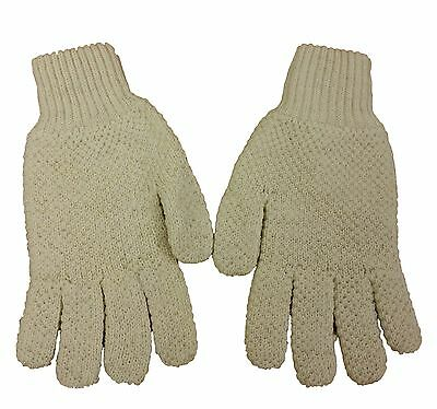 Mens/Ladies/Child  HUNTING RIDING  GLOVES Oiled British Aran Wool Cream XXS-XXL