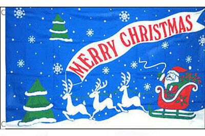 Father Christmas Xmas Santa Sleigh Flag Large 5x3/' 5x3ft Banner