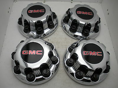 NEW! Set 99-10 GMC Sierra 2500 3500 STEEL WHEEL ONLY Center Caps Hubcaps