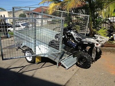 8X5 New Heavy Duty 900Mm Caged Trailer With Ramp  Drive Away Today!