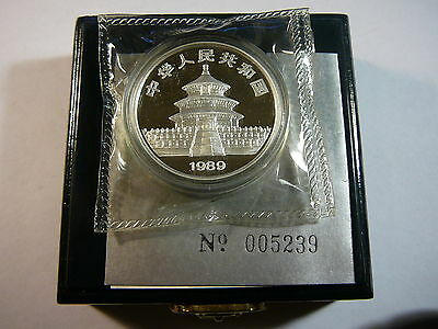 1989 China 10 Yuan Silver Proof Panda - Box/COA
