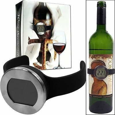 LCD Digital Champagne Wine Bottle Thermometer Watch Temperature Checker Celsius