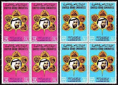 UAE 1976 ** Mi.71/72 Bl/4 Nationalfeiertag National Day