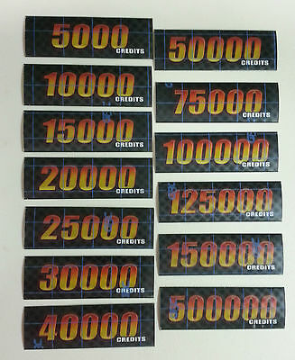 Slot Machine Glass Inserts DEAL OR NO DEAL Lot of 13 Sticker Inserts