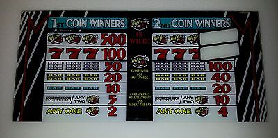 IGT HAYWIRE Slot Machine Top Glass 2 Coin 3 Reel
