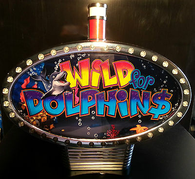 IGT Slot Machine Topper WILD FOR DOLPHINS