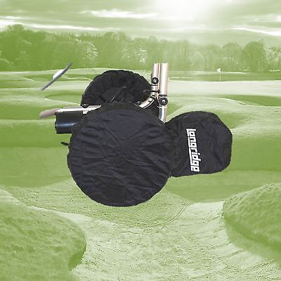 Set of 3 ( or 4) Elasticated Golf Trolley Wheel Covers, Pull Trolley or Electric