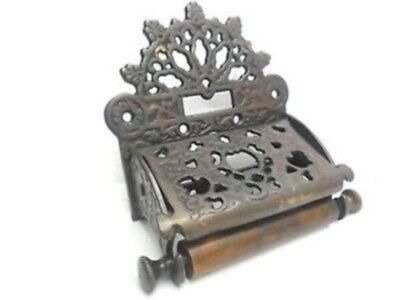 Vintage antique Style brass Toilet roll holder Bronze