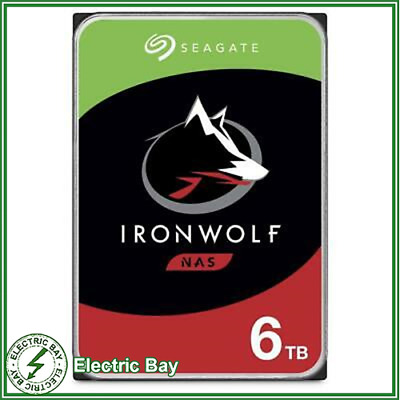 "Seagate IronWolf 6TB 3.5"" SATA Internal NAS Hard Drive HDD 128MB Cach Storage"