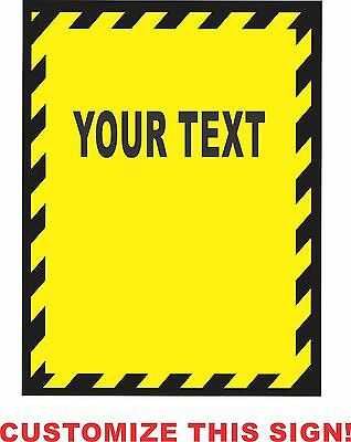 """CUSTOM PERSONALIZED """"SAFETY SIGN"""" Metal Aluminum Parking Safety Sign"""
