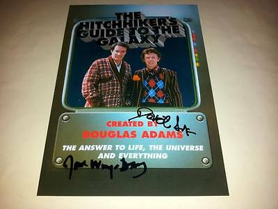 "The Hitchhiker's Guide To The Galaxy Pp Signed 12"" X 8"" Poster David Dixon"