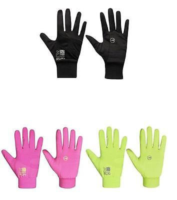 Karrimor Adult Ladies Mens Running Run Gloves S M L Black Pink Yellow Fluo - NEW