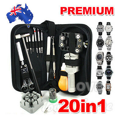 OZ Durable 20Pcs Watch Repair Watchmaker Tools Kit Remover Case Opener Set