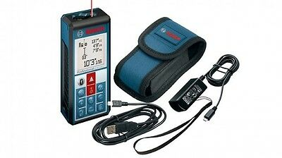 New Bosch GLM100 C Laser Distance Meter Compatible with Android and iOS Devices