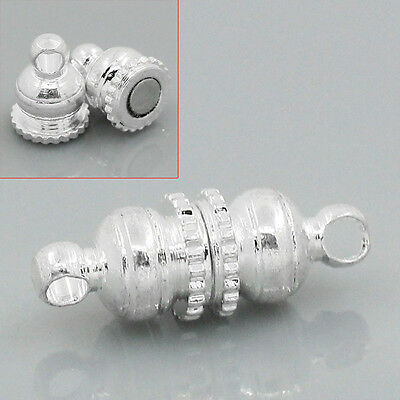Wholesale Mixed Lots Silver Plated Magnetic Clasps Accessories 16x6mm
