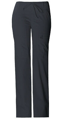 Scrubs Cherokee Luxe Jf. Fit Low Rise Cargo Pant 21100 Pewter  FREE SHIPPING!