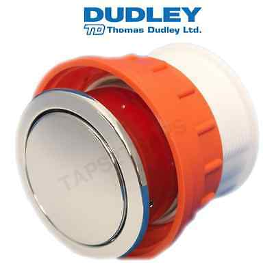 DUDLEY VANTAGE C/P SINGLE FLUSH 73.5mm ROUND PNEUMATIC TOILET PUSH BUTTON 313085