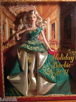 NEW IN BOX 2011 HAPPY HOLIDAY Barbie Doll COLLECTOR's Edition FREE SHIPPING XMAS