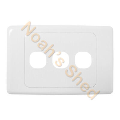 3 Gang Wall Plate Wallplate Cover Custom Suit Mech Insert Clipsal Style White