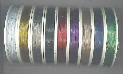 100mt ROLL BEADING WIRE, TIGER TAIL .45MM 7 STRAND NYLON COATED STAINLESS STEEL
