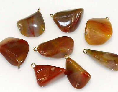 Natural Tumbled Gemstones with Loop, for Jewellery, Metaphysical, Healing stones