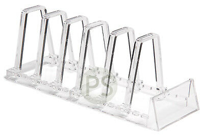 Plate Rack Clear Acrylic Adjustable Display Stand : 3 or 6 Plates