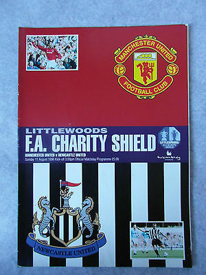 Manchester Utd V Newcastle Utd Charity Shield Programme 11Th August 1996