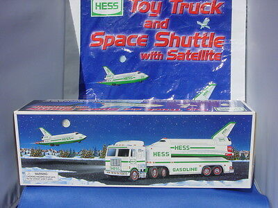 Hess 1999 Hess Toy Truck and Space Shuttle with Satellite and Purchase Bag