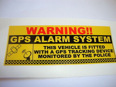4 Gps Security Stickers  Police Tracking Warning Car Alarms Rally Racing Banger