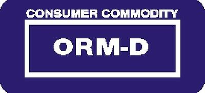 ORM-D Consumer Commodity Blue - (ROLL OF 500) GC LABELS