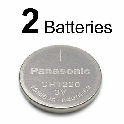 2 Panasonic CR1220 ECR1220 CR 1220 3v lithium battery NEW