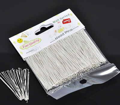 """Wholesale Lots Well Sorted Silver Plated Head Pins 4.5cm(1-3/4"""")"""