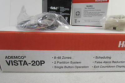 Honeywell V20P Vista-20P Alarm System 10.23 with Transformer Battery & Siren NIB