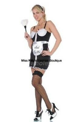 nwt ADULT sexy SEVEN 'TIL MIDNIGHT french MAID for YOU halloween PARTY costume