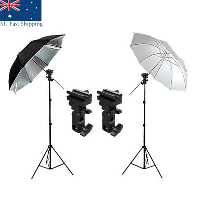 Photography Studio Umbrella Light Holder Speedlight Bracket Lighting Stand Kit