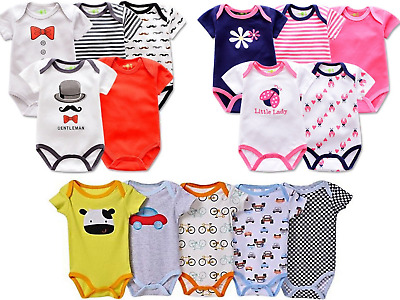 Baby BodyVest,Bodysuits,Babygrow,Playsuit,Romper Short Sleeves,3,6,9,12,24 mths