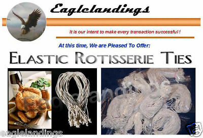 "200 7"" Elastic Food Ties For Rotisserie Poultry Chicken"